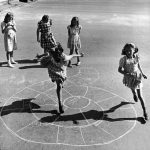 Girls Playing Hopscotch In The Street, New York, 1947