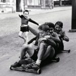 Kids Playing On Rue Edmond-Flamand, Paris, 1952