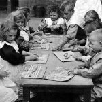 Kindergarten Children Playing With Plasticine, 1910