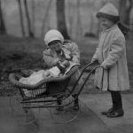 Two Young Girls Play A Campbell Soup Kid Doll, New York, 1912